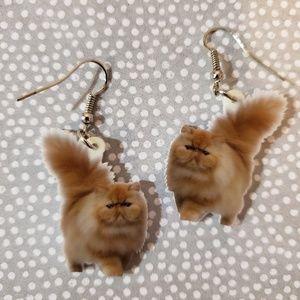 Acrylic Cat Earrings